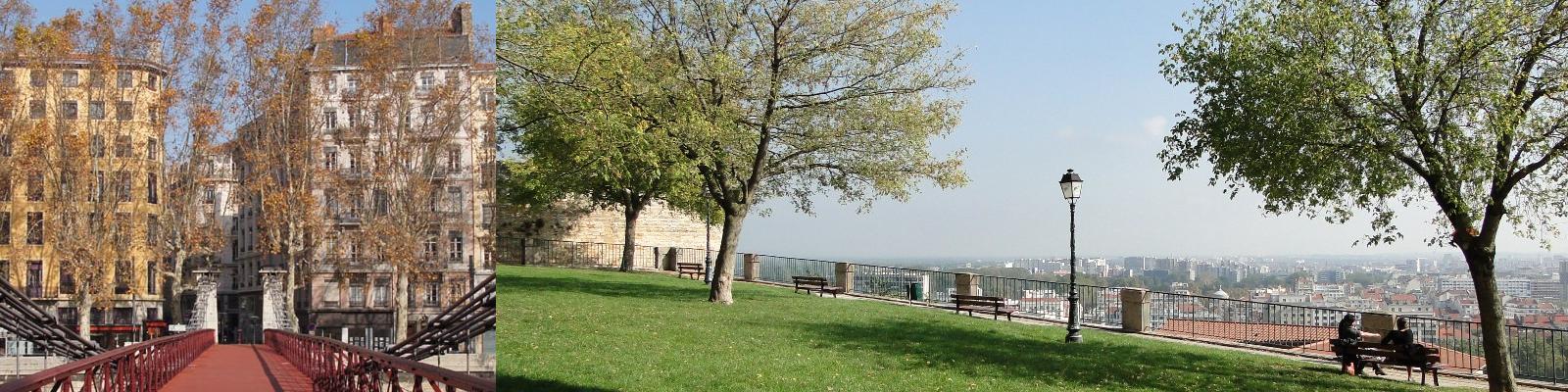 Ponts et parcs de la ville de Lyon.