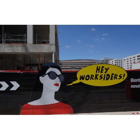 Le chantier en 2020 depuis le quai Perrache