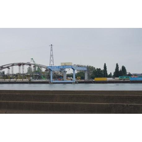 Le port Herriot vu depuis Oullins en juin 2013