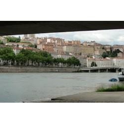 Les berges du Rhône du pont Morand à la passerelle du Collège