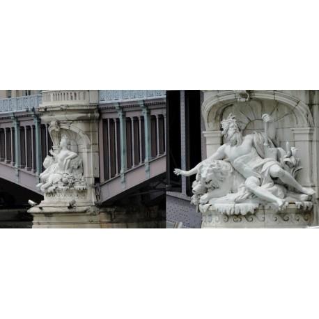Les berges du Rhône du pont Lafayette au pont Wilson