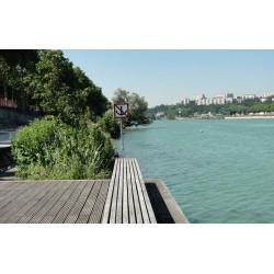 Les berges du Rhône du Viaduc au quai du Canada